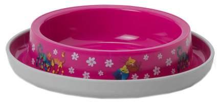 Одинарная миска для кошек MODERNA, пластик, розовый, 0.21 л
