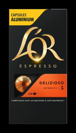 Капсулы L'OR Espresso Delizioso для кофемашин Nespresso 10 капсул