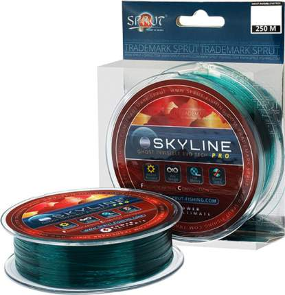 Леска монофильная Sprut Skyline Evo Tech Pro Ghost Invisible 250 м, 0,305 мм, 8,55 кг