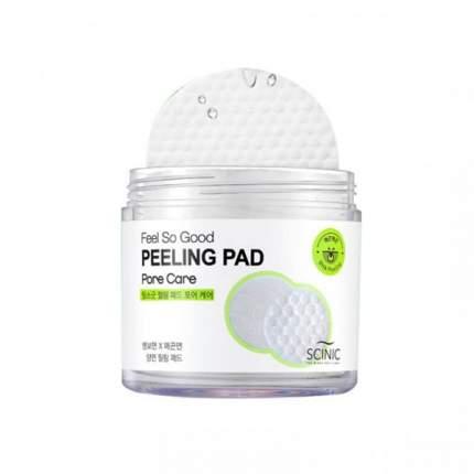 Очищающие салфетки Scinic Feel So Good Peeling Pad (Pore Care)