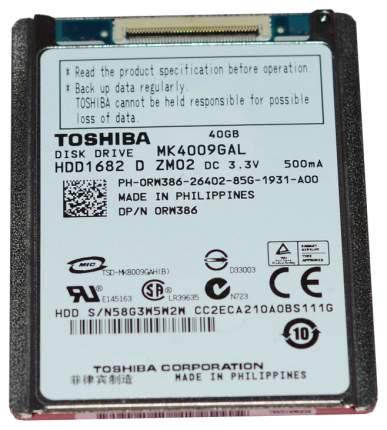 Внутренний жесткий диск Toshiba 40GB (MK4009GAL)