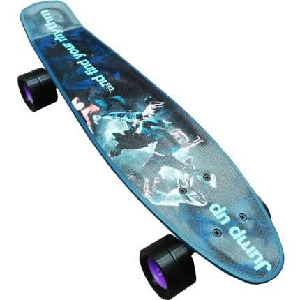 """Скейтборд детский Action! Jump up 22"""" черный с синим"""