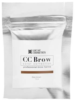Хна для бровей Lucas' Cosmetics CC Brow в саше grey brown 10 г
