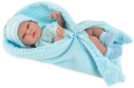 Пупс ARIAS Elegance с голубым одеялком, с соской, 38 см, Т13729