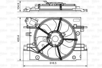 Вентилятор охлаждения двигателя VALEO 696880