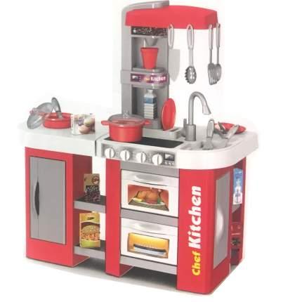 Детская кухня Kitchen с водой TALENTED CHEF 53 детали, красная (922-46A)