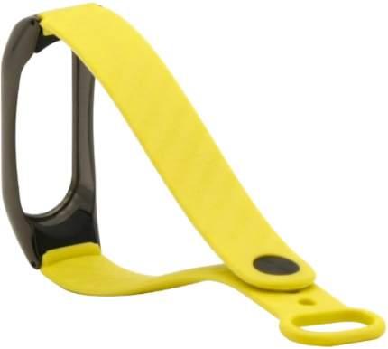 Ремешок силиконовый с металлическим основанием для Mi Band 2 Strap Yellow