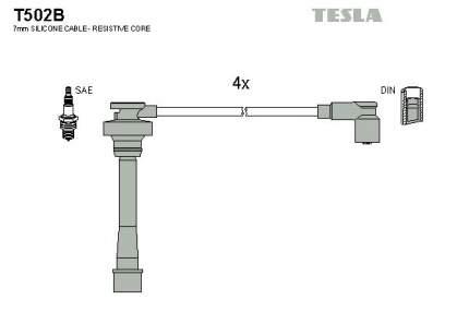 Комплект проводов зажигания TESLA T502B