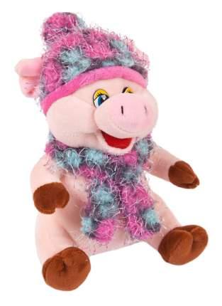 Мягкая игрушка Chuzhou Greenery Свинка в розовых шарфике и шапочке 19747