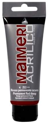 Акриловая краска Maimeri Acrilico M0916253 темно-красный 75 мл
