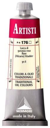 Масляная краска Maimeri Artisti мареновый лак розовый 40 мл