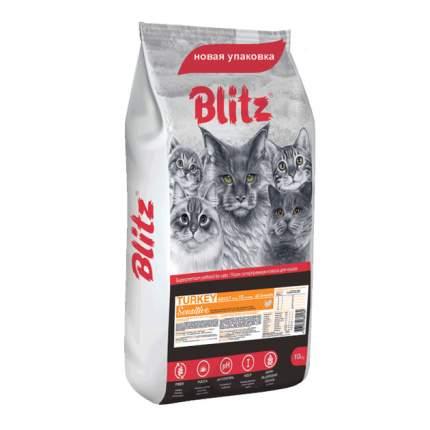 Сухой корм для кошек BLITZ, индейка, 10кг