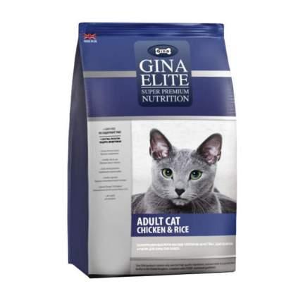Сухой корм для кошек Gina Elite, цыпленок, рис, 3кг