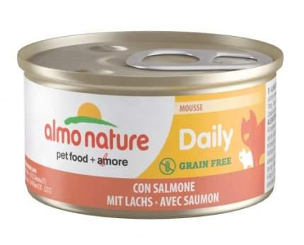 Консервы для кошек Almo Nature Daily Adult, нежный мусс с лососем, 85г