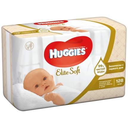 Детские влажные салфетки Huggies Elite Soft, 128 шт.