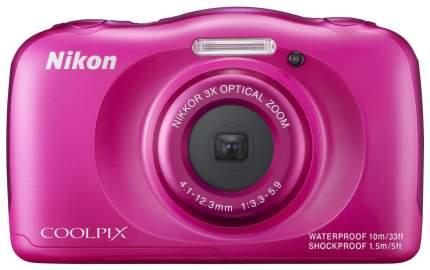 Фотоаппарат цифровой компактный Nikon COOLPIX S33 Pink Backpack kit