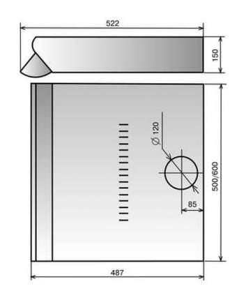 Вытяжка подвесная Elikor Davoline 50П-290-П3Л Brown