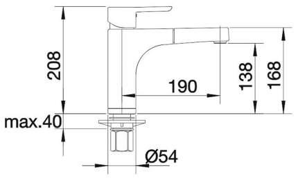 Смеситель для кухонной мойки Blanco PYLOS-S 512991 хром