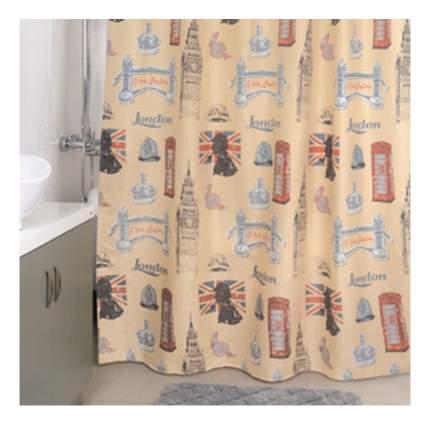 Штора для ванной Milardo British Sings 870P180M11