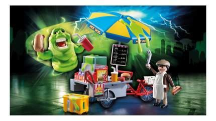 Игровой набор Playmobil Охотники за привидениями: Лизун и торговая тележка с хот-догами