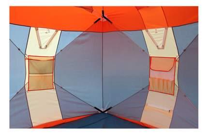 Палатка Митек Нельма Куб Люкс двухместная оранжевая/бежевая/зеленая