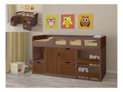 Кровать-чердак РВ мебель Астра 8 дуб шамони/орех