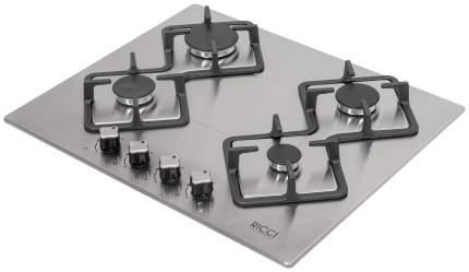 Встраиваемая варочная панель газовая RICCI RGN-KA 4009 IX Silver