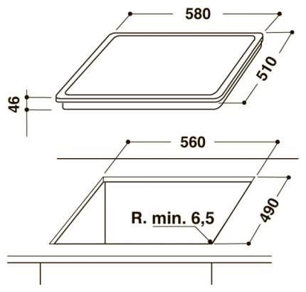 Встраиваемая варочная панель электрическая Hotpoint-Ariston HAR 643 T F Black