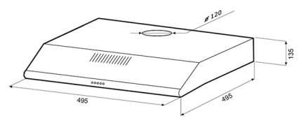 Вытяжка подвесная Shindo Lira 50 W White