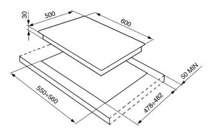Встраиваемая варочная панель газовая Smeg SR764AX Black