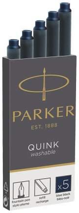 Картридж с чернилами Parker Quink Long для перьевой ручки Темно-синий 5 шт 1950385