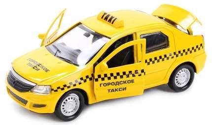 Машинка Технопарк металлическая инерционная renault logan Такси, со светом и звуком