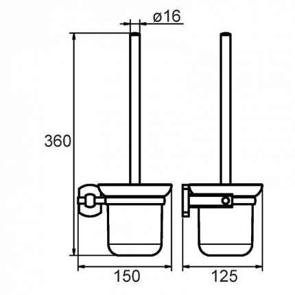 Ершик туалетный Milardo Neva
