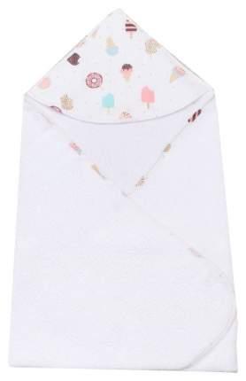 Полотенце детское AmaroBaby Cute love Эскимо белый 90*90 см