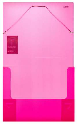 Папка на резинках Index Colourplay Light, A4, 0,6 мм, корешок 40мм, Прозрачная,/Сиреневая