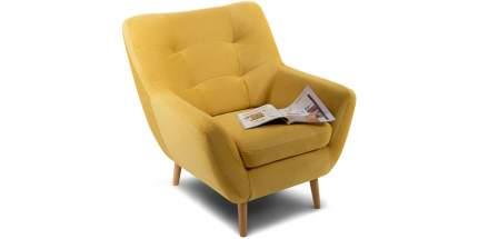 Кресло для гостиной Divan.ru Витио Velvet Yellow, желтый