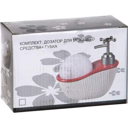 Дозатор для моющего средства + губка 15х7х15см 300мл