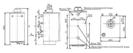 Газовый отопительный котел Боринское АКГВ 11,6 EUROSIT