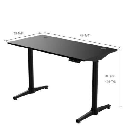 Компьютерный стол c электрической регулировкой по высоте Eureka EHD-I1, чёрный