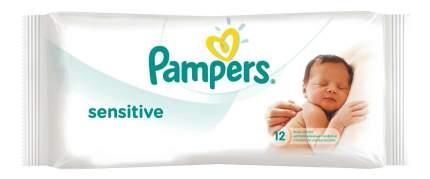 Детские влажные салфетки Pampers sensitive, 12 шт.