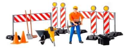 Набор знаков дорожных работ Bruder с фигуркой рабочего