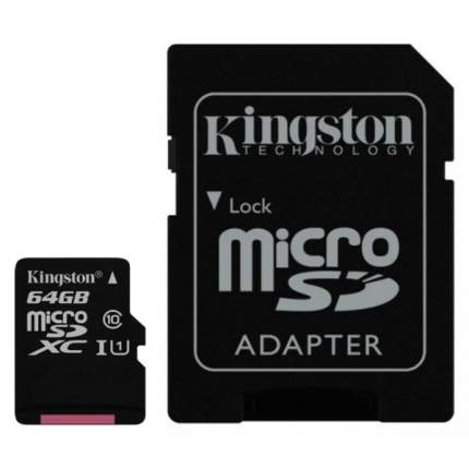 Карта памяти Kingston Micro SDXC SDC10G2 64GB