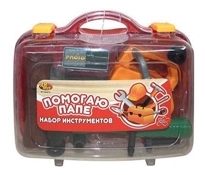Помогаю папе. набор инструментов в чемодане pt-00070(wk-9746)
