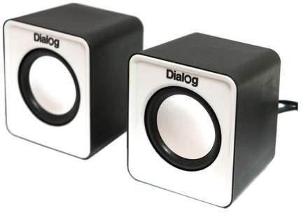 Колонки для компьютера Dialog Colibri AC-02UP 6Вт USB черно-белые