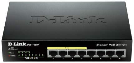 Коммутатор D-Link DGS-1008P Черный