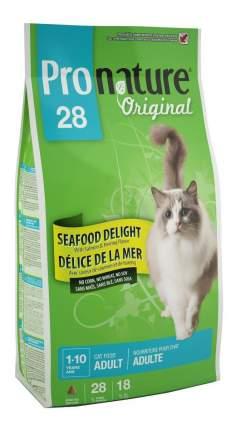Сухой корм для кошек Pronature Original Океан Удовольствия, курица, морепродукты, 5,44кг