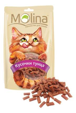 Лакомство для кошек Molina Кусочки тунца, 80г