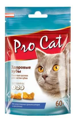 Лакомство для кошек PRO CAT Подушечки Здоровые зубы, 60г