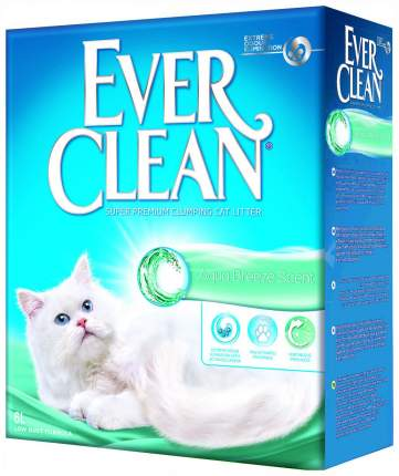 Комкующийся наполнитель для кошек Ever Clean Aqua Breeze глиняный, морской бриз, 6 кг, 6 л