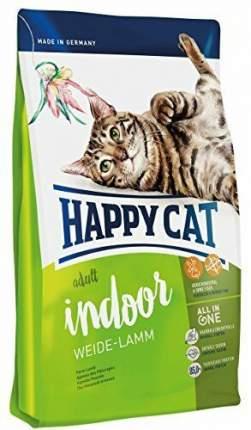 Сухой корм для кошек Happy Cat Fit & Well Indoor, для домашних, ягненок, 10кг